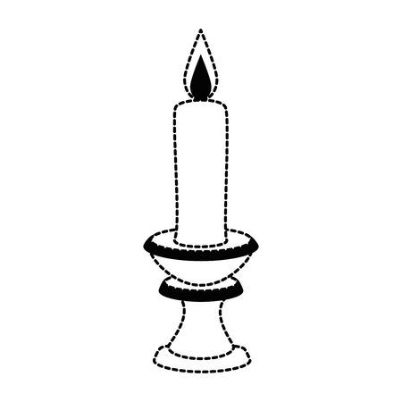 paraffin candle in candlestick vector illustration design Zdjęcie Seryjne - 91080930