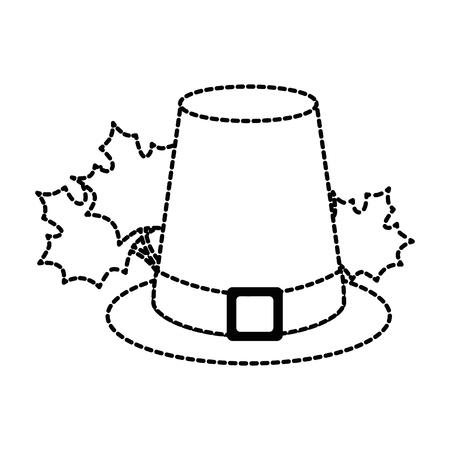 マップルで感謝祭の帽子の葉ベクター イラスト デザイン