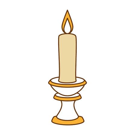 paraffin candle in candlestick vector illustration design Zdjęcie Seryjne - 91080856
