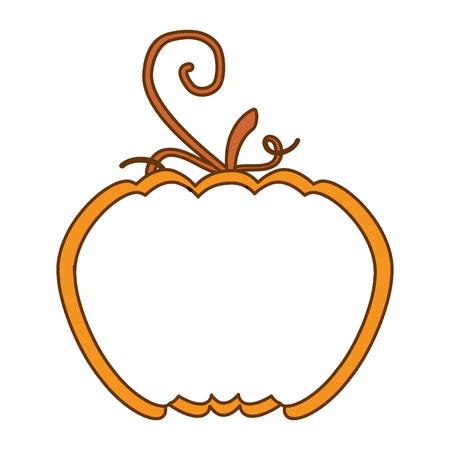 Half pumpkin fresh isolated icon vector illustration design Illustration