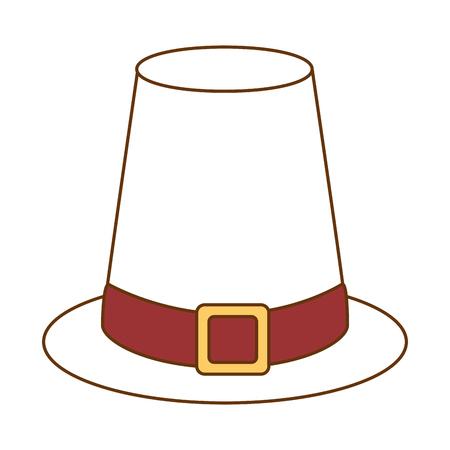 Ontwerp van de het pictogram vectorillustratie van de dankzegging het hoed geïsoleerde
