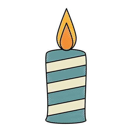 paraffin candle isolated icon vector illustration design 向量圖像