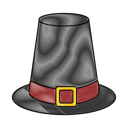 thanksgiving hat isolated icon vector illustration design Stock fotó - 91080936
