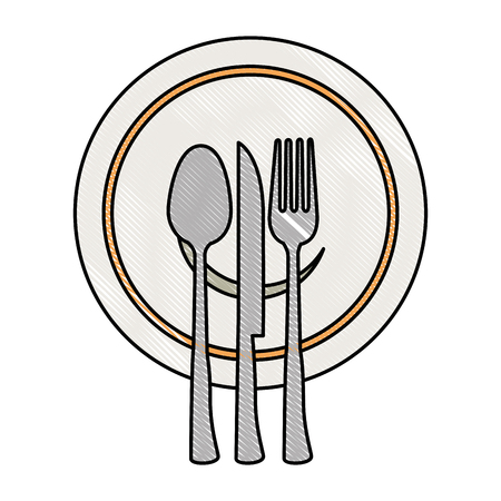 A set cutlery tools in cup vector illustration design