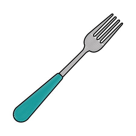 A fork cutlery tool icon vector illustration design