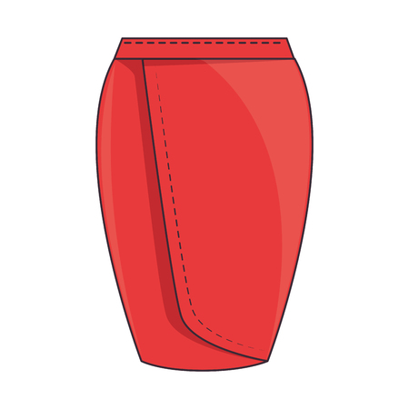 elegant skirt for woman vector illustration design