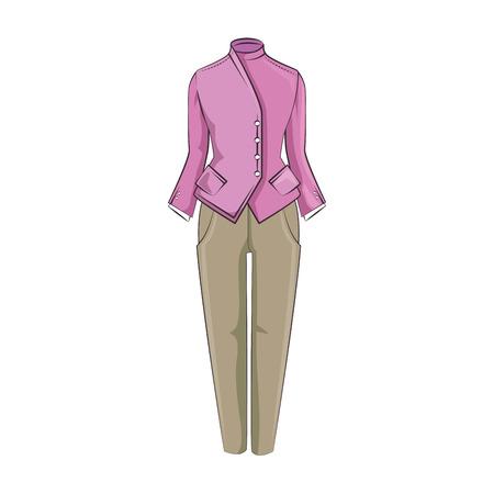 elegant dress for woman vector illustration design 向量圖像