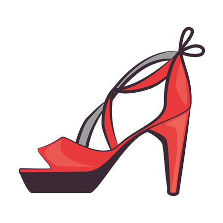 elegant heeled sandals icon vector illustration design Çizim