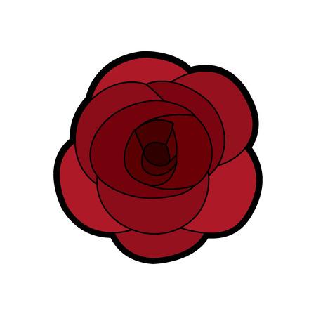 Rose flower ornament illustration.