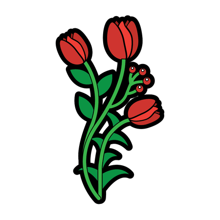Tulip flower illustration. Illustration