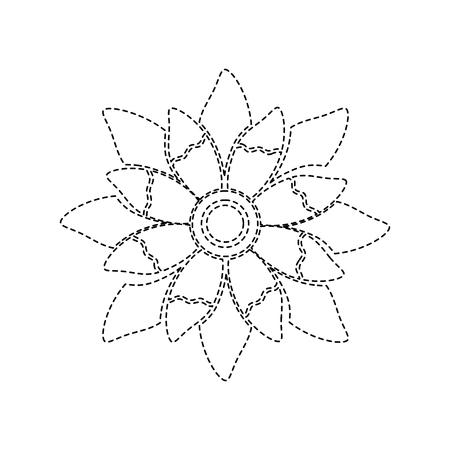 schoonheid bloem bloemen natuurlijke bloemblaadje vector illustratie sticker