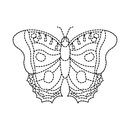 top view of beautiful monarch butterfly vector illustration sticker