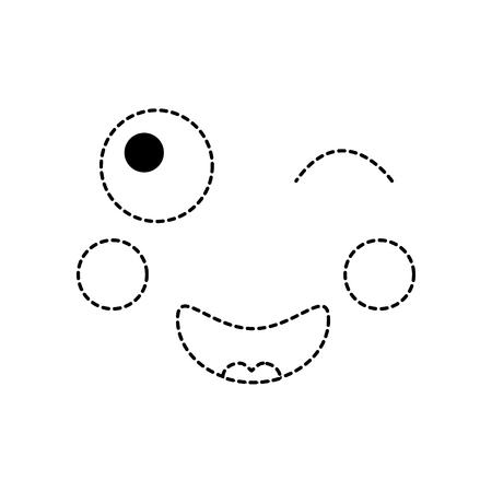 Knipoog gezicht emoticon pictogram.