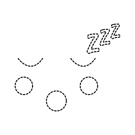 Sleeping face emoticon icon. Illustration