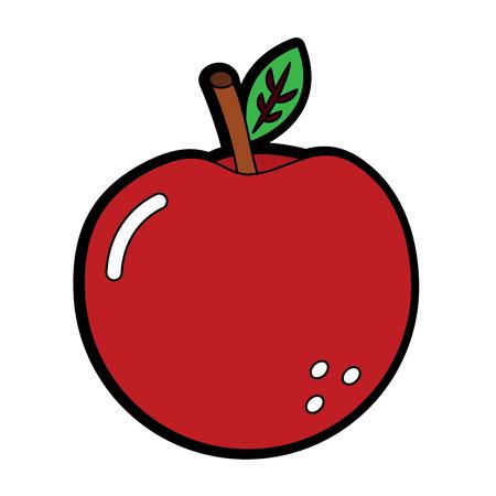 apple fruit icon image vector illustration design