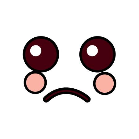 Sad face emoticon icon. 向量圖像