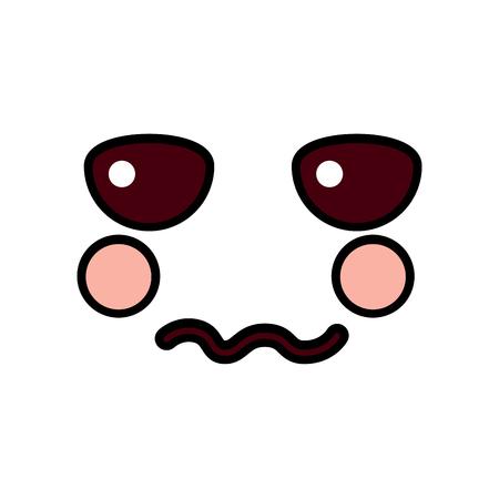 Unhappy face emoji icon image vector illustration design Ilustração