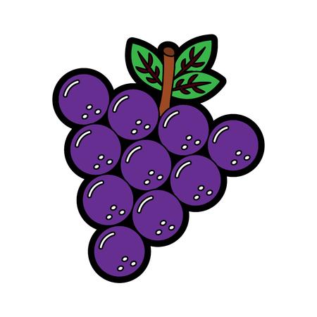 Grapes fruit icon.