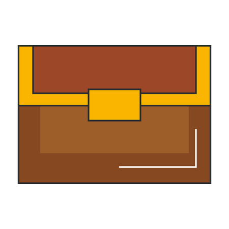 Treasure chest isolated icon. Illustration