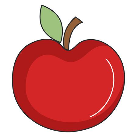 apple fresh fruit icon vector illustration design Ilustração