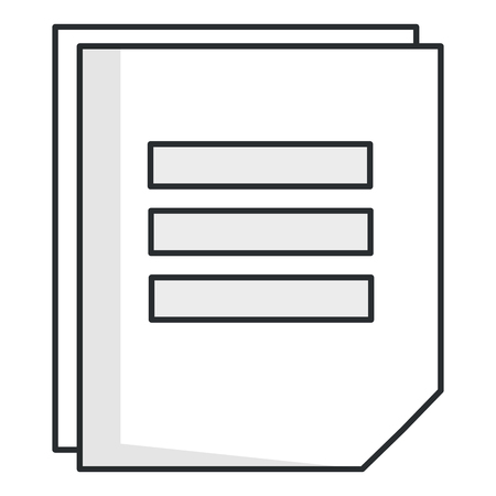 sheet of notebook icon vector illustration design