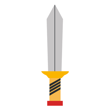 warrior sword isolated icon vector illustration design