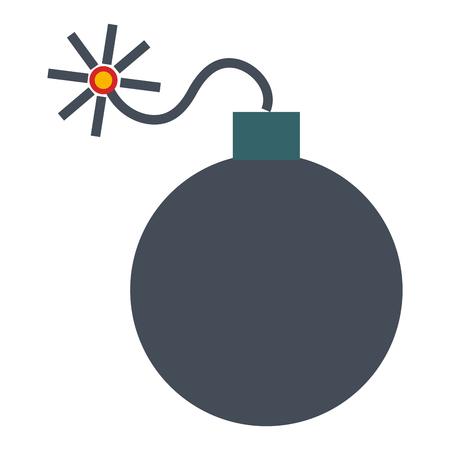 爆発爆弾分離アイコンベクトルイラストデザイン