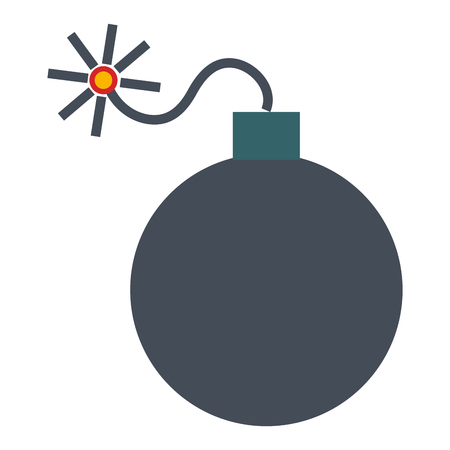explosief bom geïsoleerd vector de illustratieontwerp van het pictogram