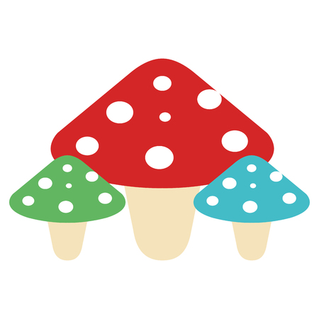 かわいい真菌分離アイコンベクトルイラストデザイン  イラスト・ベクター素材