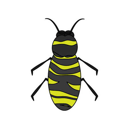 A bee icon honey flying insect animal garden vector illustration  イラスト・ベクター素材