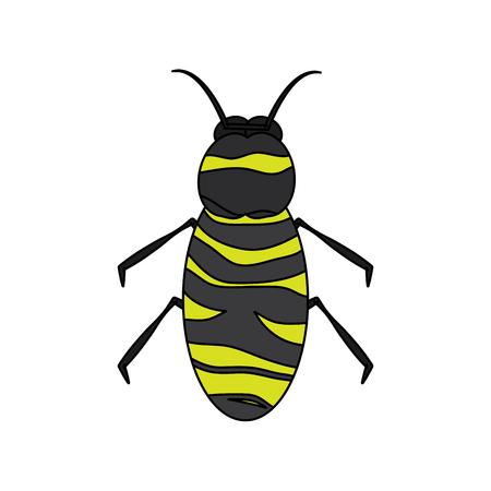 A bee icon honey flying insect animal garden vector illustration Stock Illustratie