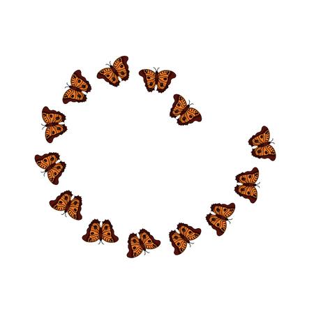 Butterfly arranged flying animal decoration vector illustration Illustration