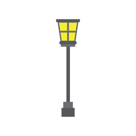 street lamp vintage icon image vector illustration design