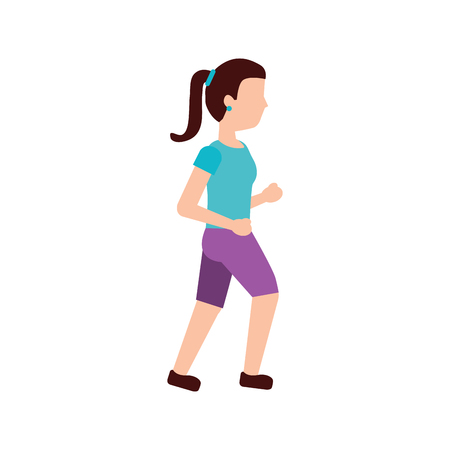 woman person avatar running or jogging icon