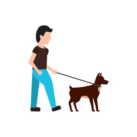 man walking dog pet icon image vector illustration design Stok Fotoğraf - 91196585