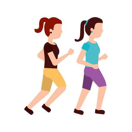 women person avatar running or jogging icon image vector illustration design  Illustration