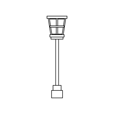 street lamp vintage icon image vector illustration design