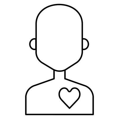 human figure with heart vector illustration design Illusztráció