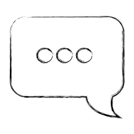 연설 거품 격리 된 아이콘 벡터 일러스트 레이 션 디자인 스톡 콘텐츠 - 91202413