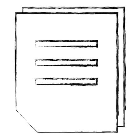 sheet of notebook vector illustration design Ilustração
