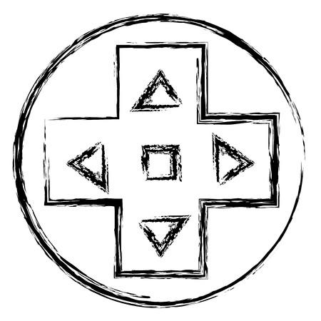 Video game cross icon vector illustration