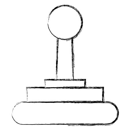 Video game joystick icon vector illustration Illustration