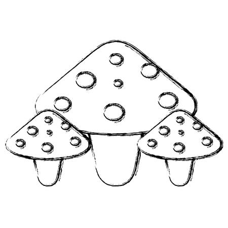 かわいい菌アイコン ベクトル イラスト デザインを分離しました。