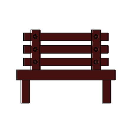 bench park decoration furniture comfort vector illustration