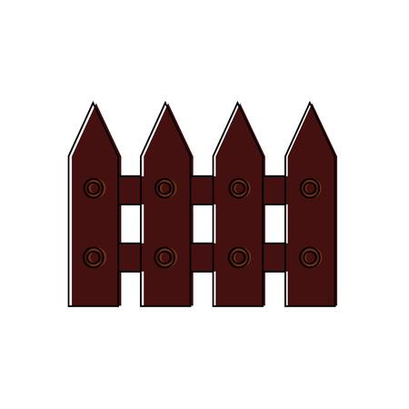 wooden fence park decoration ornament vector illustration 向量圖像