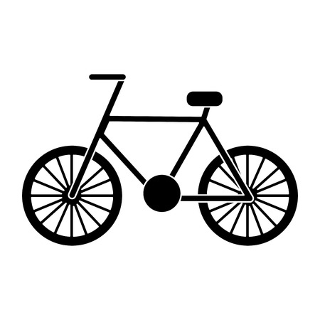 bicycle recreation travel transport icon vector illustration black image