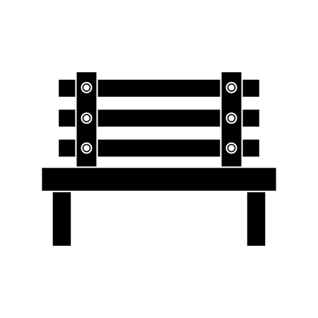 bench park decoration furniture comfort vector illustration black image