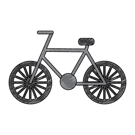 bicycle recreation travel transport icon vector illustration