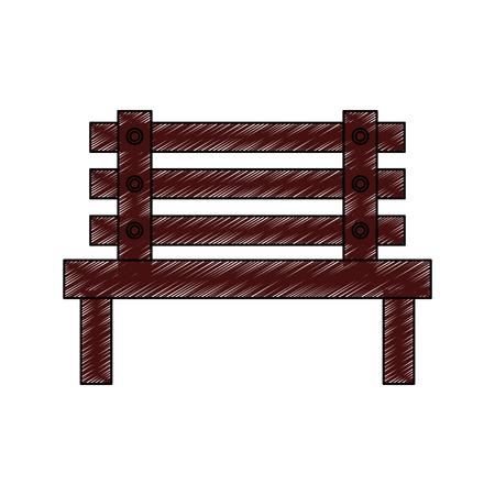 Bank im Freien Möbel Symbol Bild Vektor Illustration Design Standard-Bild - 91205398
