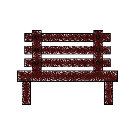 bench outdoor furniture icon image vector illustration design